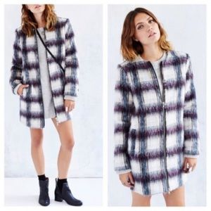Urban Outfitters Kimchi Blue textured column coat